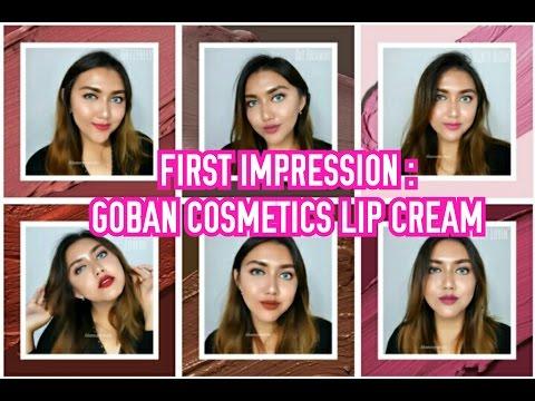 [first-impression]-goban-cosmetics-melted-matte-lip-cream-|-swatch-all-shades-|-khansamanda