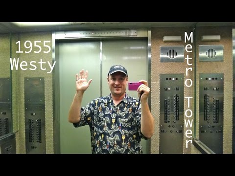 mini elevaTOUR: Metro Tower Lubbock Texas with 1955 Westinghouse Selectomatic elevators