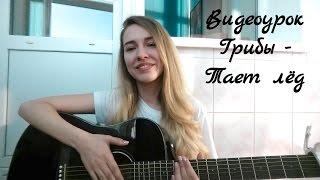Видеоурок Грибы - Тает лёд ( разбор на гитаре )