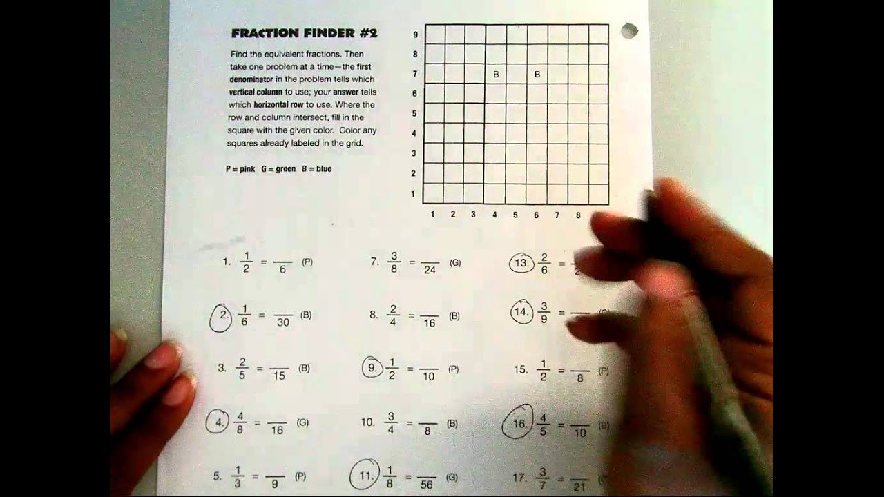 Fraction Finders 1 & 2 - YouTube