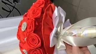 BROOCH BOUQUET / БРОШЬ БУКЕТЫ, из лент, ткани , букет невесты