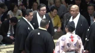 20140914 大相撲秋場所初日 高安vs豪栄道 物言いの一番.
