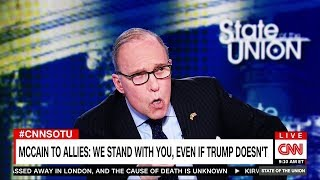 Larry Kudlow Is Uh, 'Amped' Up To Defend Trump