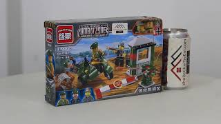 Mở hộp MOC Enlighten 1702 Lego Military Army  Escape the alert area giá sốc rẻ nhất