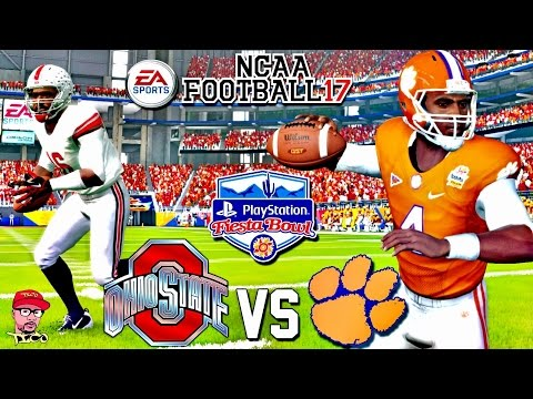 CFB PLAYOFF GAMEPLAY!!! | #3 OHIO STATE Vs #2 CLEMSON MATCH UP!!! | NCAA FOOTBALL 17!
