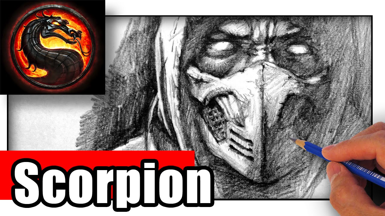 How To Draw Scorpion From Mortal Kombat With Pencil Youtube