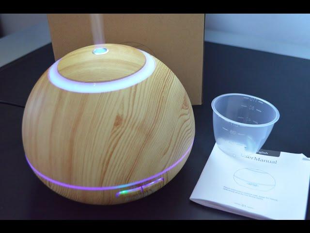Marrone Scuro Camera da Letto Simpeak Diffusore Atomizzatore di Oil Essenze 400 ml Umidificatore Diffusore di Aromi con Luce LED per Casa e Ufficio