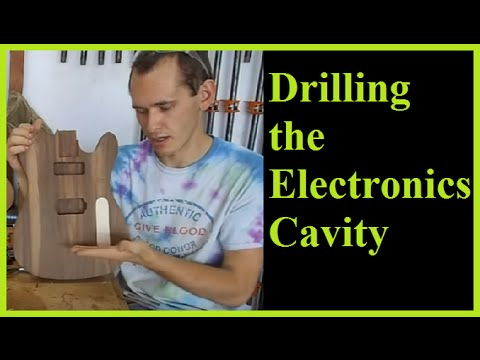 Telecaster Build Part IV: Drilling The Electronics Cavity And Making The Electronics Cover