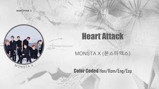 Monsta X  몬스타엑스  - Heart Attack  Color Coded Han/rom/eng/esp Lyrics