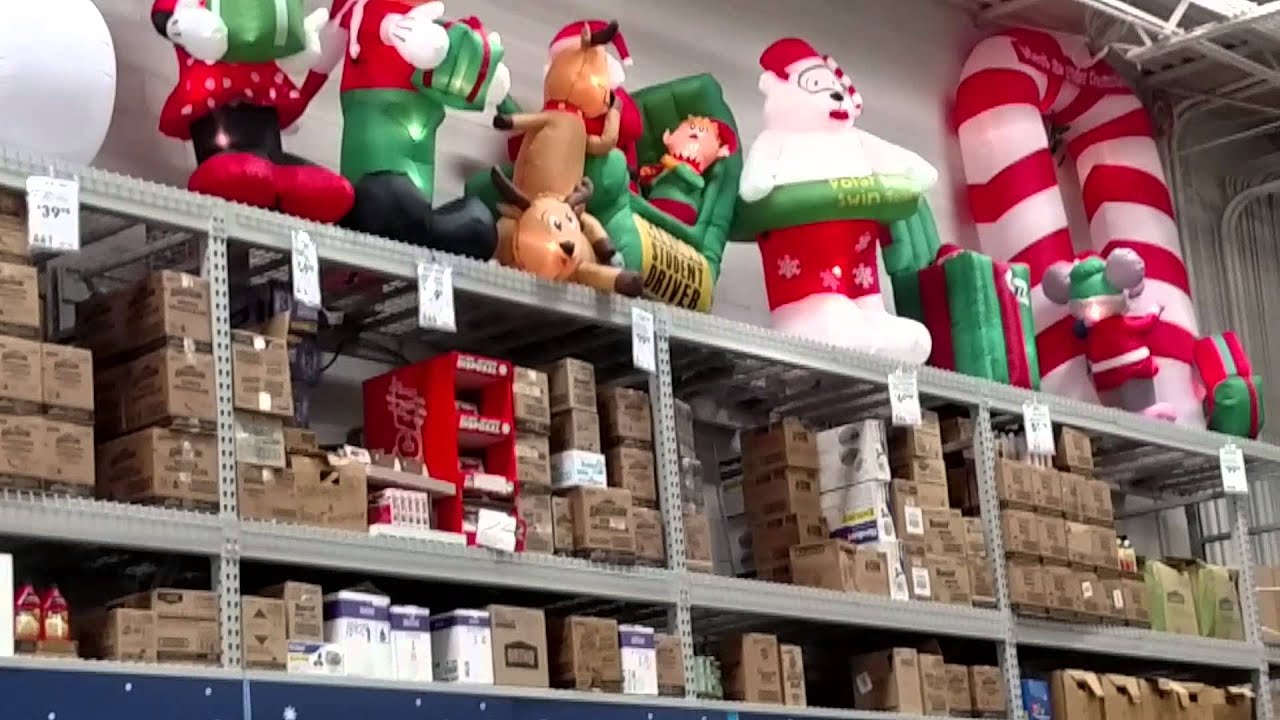 Home Depot Holiday Hours Inflatables At Lowe 39s 2015 Youtube
