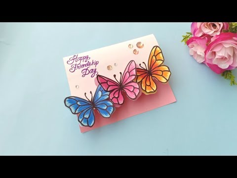 How to make Friendship Day Card / Handmade easy card Tutorial
