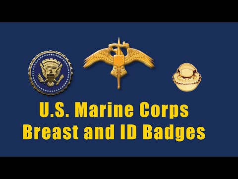 Marine Corps Badges And  Insignia .