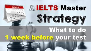 Обложка IELTS Strategy What To Do 1 Week Before The Test