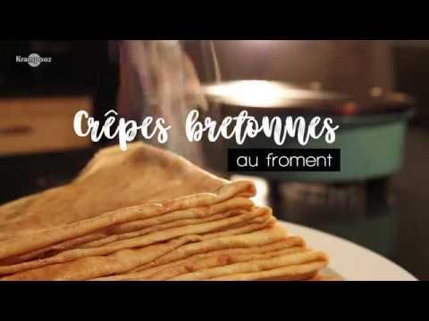Recette Des Crepes Bretonnes Krampouz Youtube