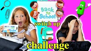 BACK TO SCHOOL BACKPACK SWITCH UP CHALLENGE | SISTER FOREVER