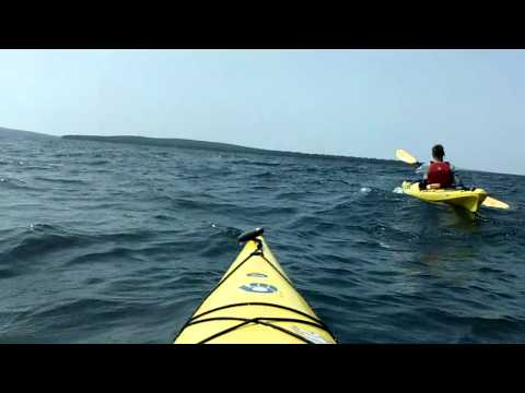 Kayaking Devils Island to Bear Island, Apostle Islands, Lake Superior, Wisconsin, 8-1-13