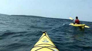 Kayaking Devils Island to Bear Island, Apostle Islands, Lake Superior, Wisconsin, 8-1-13