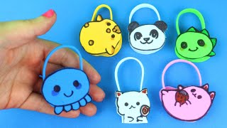 DIY Miniature Cartoon Purses in Less than 1 Minute - 6 Different Models