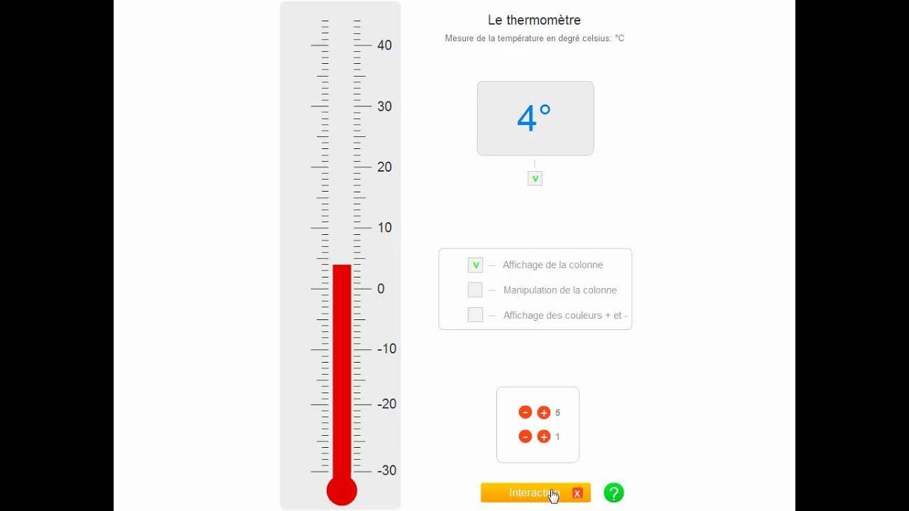 Un thermom tre interactif pour apprendre lire la temp rature youtube - Application pour prendre la temperature ...