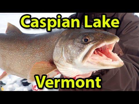 Lake Trout Fishing At Vermont's Caspian Lake - 1/31/16