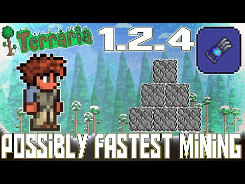 Terraria Console Version - Possibly One Of The Fastest Mining Speed?