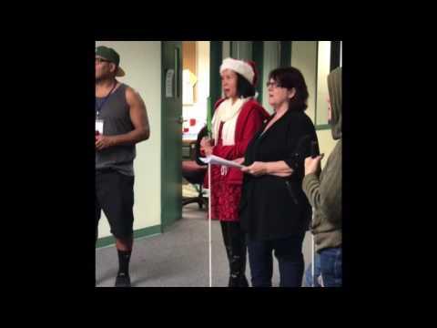 Christmas carols at Junior Blind of America 12/14/16