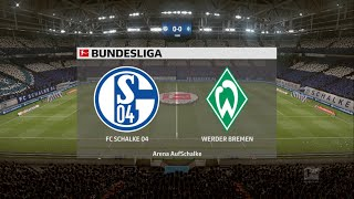 Schalke 04 werder bremen bundesliga full game highlights fifa 20