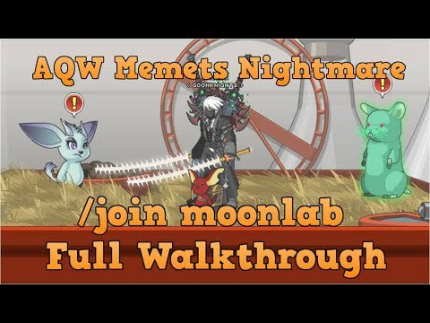 AQW /join Moonlab Full Walkthrough   Wistar-287 Quests
