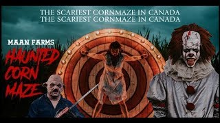 Maan Farms - Haunted Corn Maze - Scariest Corn Maze In Canada!