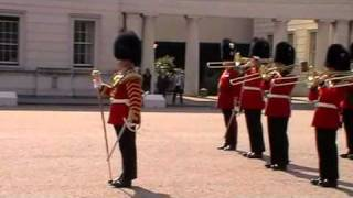 The Royal Regiment of Fusiliers return after Guard Mounting - April 2010