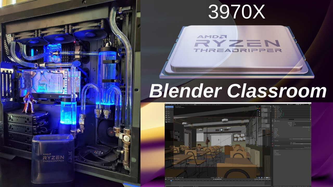 AMD Threadripper 3970X – Blender Classroom Render