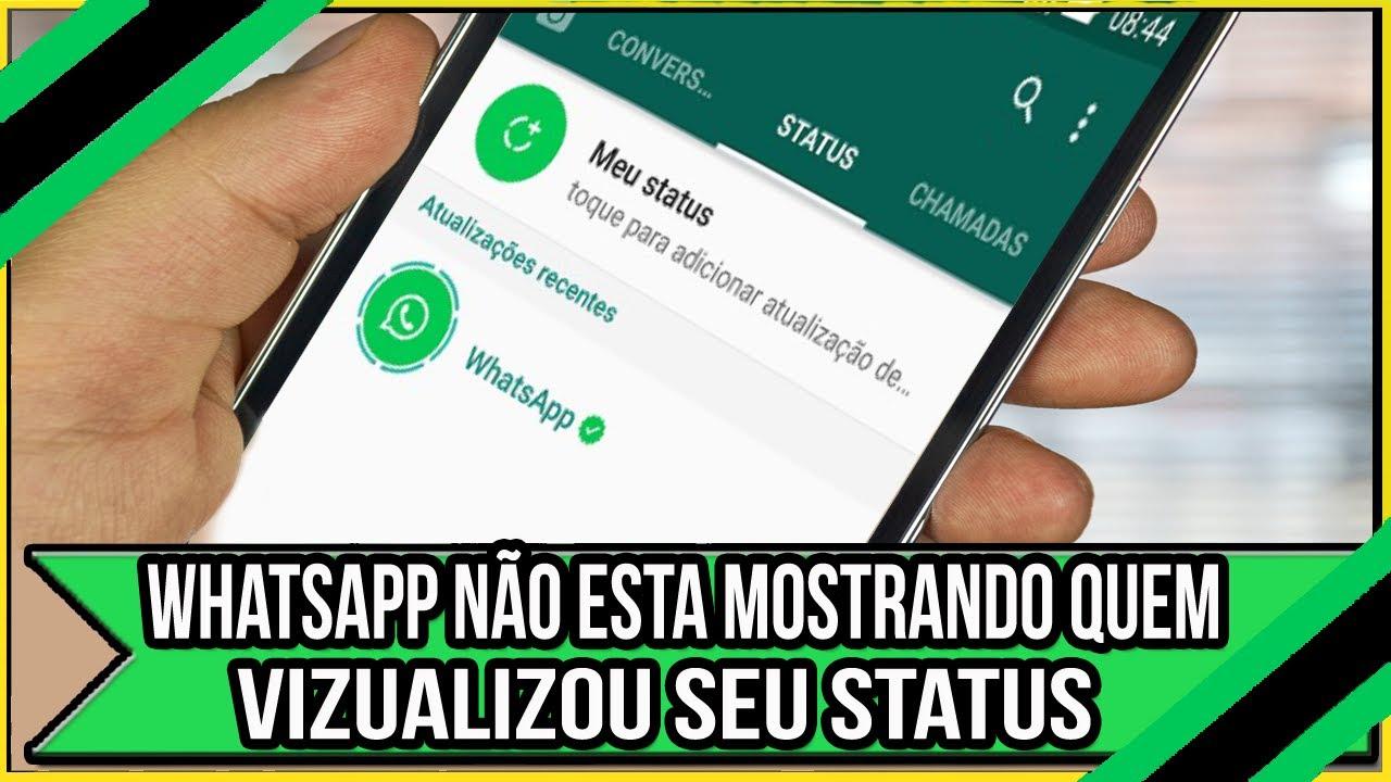 Whatsapp Nao Esta Mostrando Quem Visualizou Seu Status Resolver