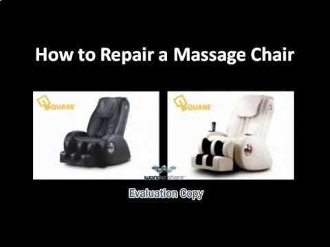 How To Repair A Massage Chair Youtube