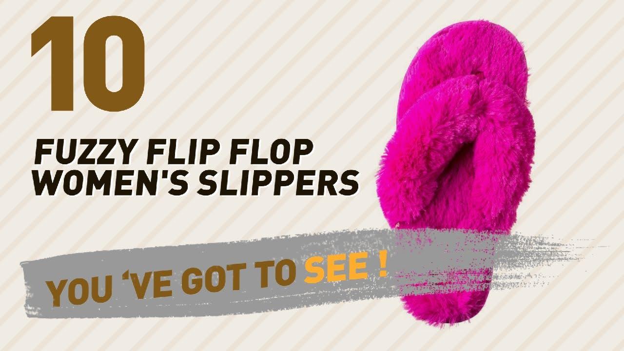 4a186cf85e7 Fuzzy Flip Flop Women s Slippers    New   Popular 2017 - YouTube