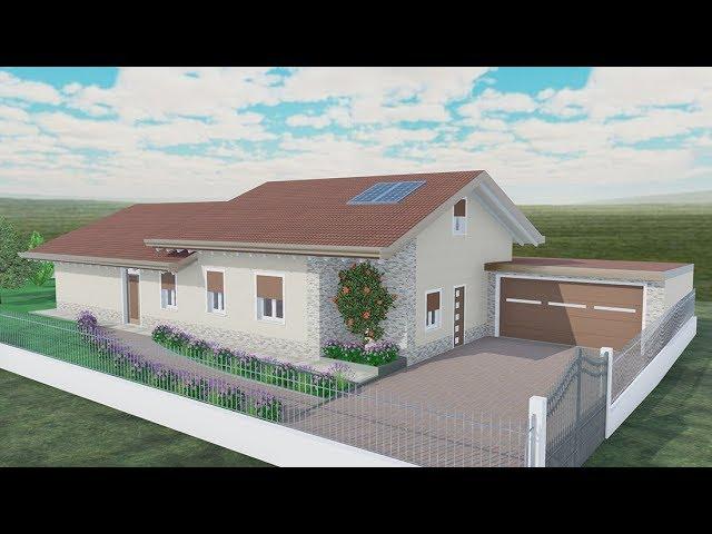 Villa Unico Livello 120 Mq Edificius 3d Rendering Youtube