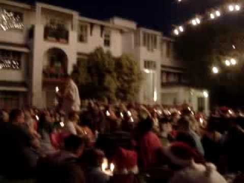 Turning on the Christmas lights in Cape Town South Africa