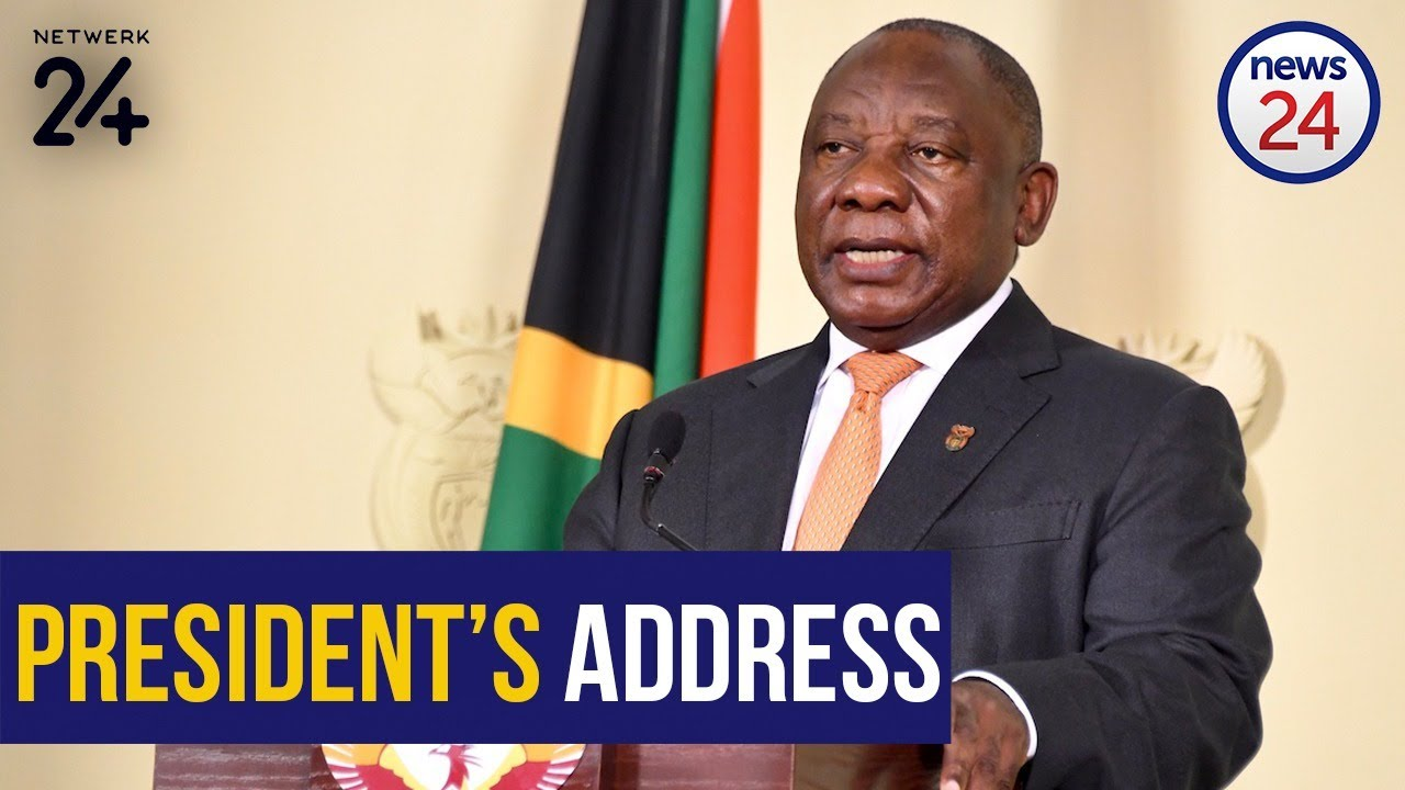 Watch Live President Cyril Ramaphosa Addresses The Nation On Lockdown Day 59 Youtube