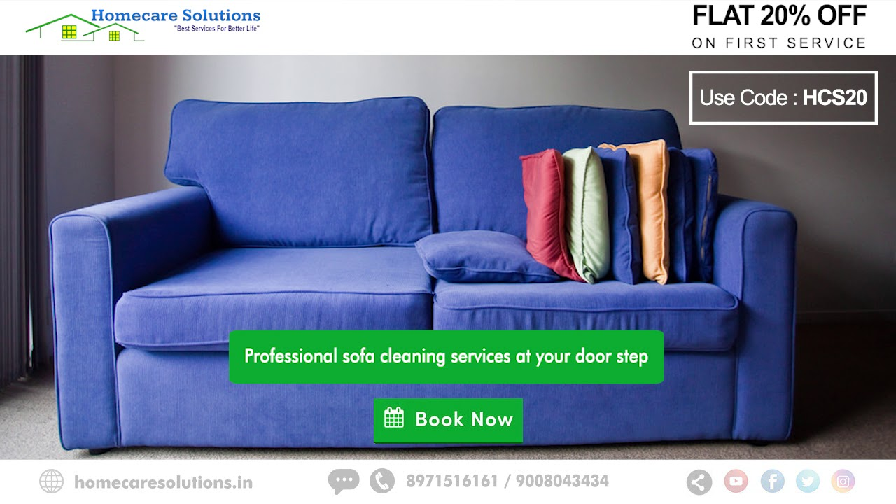 Sofa Cleaning Services Bangalore Purple Velvet Upholstered Deep Homecare Solutions Youtube