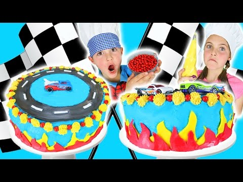 🔥 How To Make Hot Wheels Cake With Chef Ava   DIY Fondant Fire   Kids Toy Cars Baking Challenge