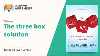 Leer para Aprender: The Three Box Solution | Invitado: Steven Lavado