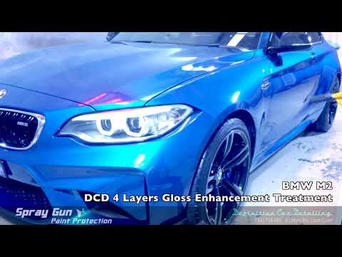 BMW M2 Long Beach Blue Definitive Sydney Spray Gun 4 Layers Paint Protection Gloss Enhancement Treat