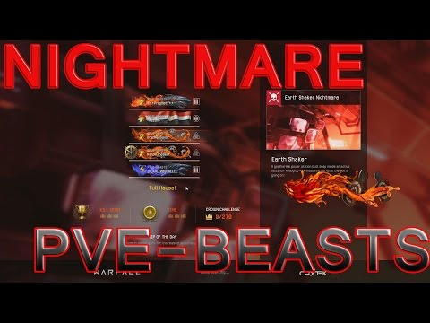 Warface - NIGHTMARE EARTH SHAKER *PVE-BEASTS* SNIPER (full crowns for time)