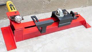Angle Grinder HACK - How To Make A Lathe Machine   Homemade Woodworking Lathe Machine   DIY