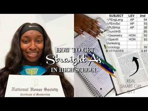 HOW TO GET STRAIGHT A's IN HIGH SCHOOL! BACK TO SCHOOL TIPS! | Coco Chinelo