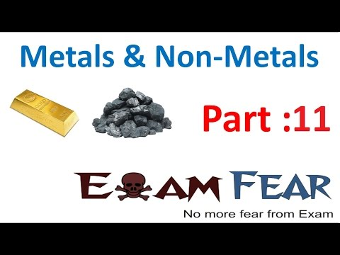 Chemistry Metal & Non-Metal Part 11 (Reaction with Acid) Class 8  VIII