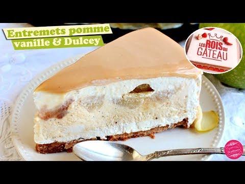 🍏-entremets-pomme,-vanille-et-dulcey---les-rois-du-gateau-!-🍏