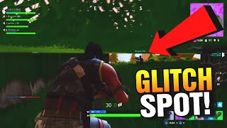 SECRET GLITCH SPOT IN FORTNITE BATTLE ROYALE! FORTNITE GLITCHES SPOTS!