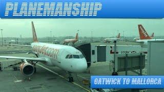EasyJet. London Gatwick to Palma De Mallorca. FULL FLIGHT. November 2014