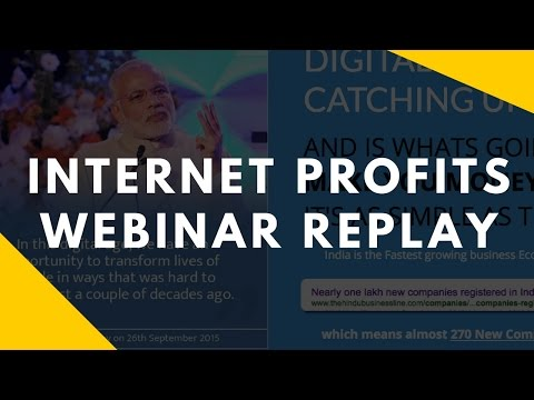 Internet Profits - Webinar Recording