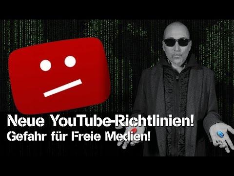 Neue YouTube-Richtlinien - Gefahr für Freie Medien!